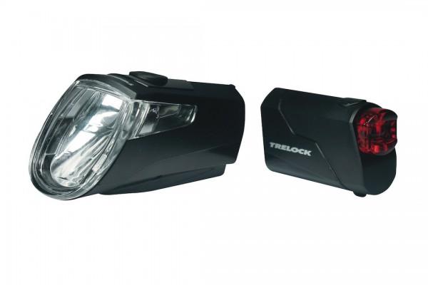TRELOCK LED Akkuleuchten Set 15 LUX LS 360/LS 720 schwarz schwarz