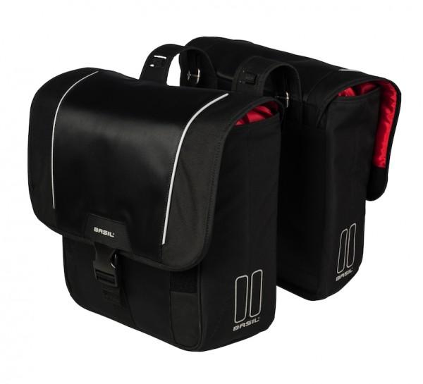 BASIL Doppelpacktasche Sport Design Befestigung: Racktime | schwarz