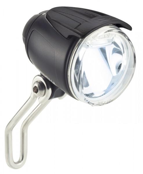 B&M E-Bike LED Scheinwerfer Lumotec IQCyoPremium E Befestigung: Gabelbrücke | schwarz | An-/Ausschal