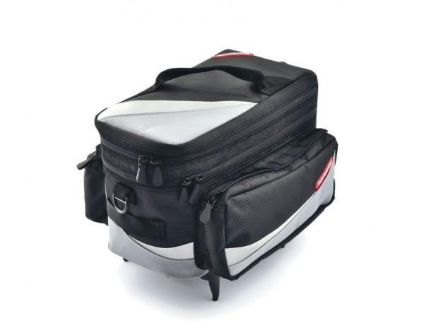 PLETSCHER Gepäckträgertasche Zurigo Befestigung: Easyfix   schwarz / grau