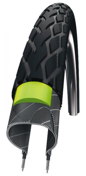 SCHWALBE Fahrradreifen Marathon Green Guard HS 420 28 Zoll   ETRTO: 50-622   Draht   TwinSkin   schw