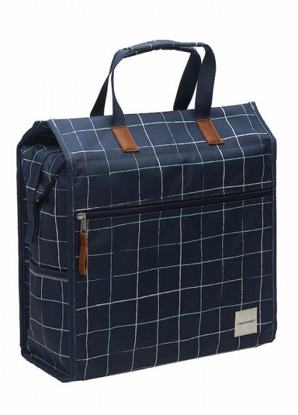 NEW LOOXS Einkaufstasche Lilly Check Befestigung: Haken | blau