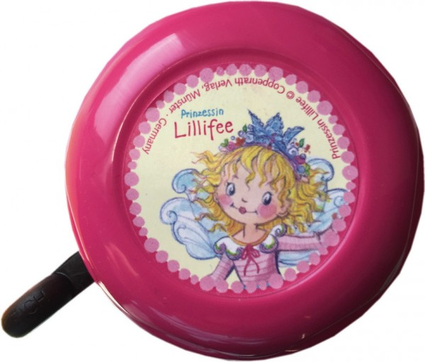 BIKE FASHION Kinder-Glocke Prinzessin Lillifee pink | Motiv: Prinzessin Lillifee | Durchmesser: 57 m