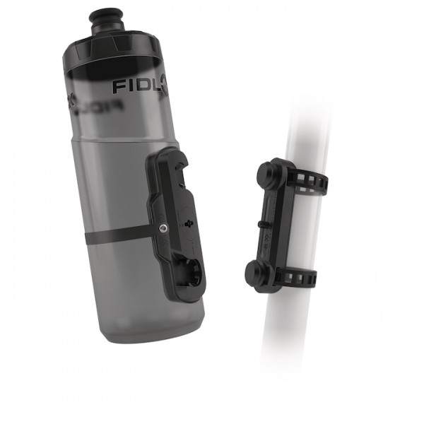 FIDLOCK Trinkflaschen Set TWIST inkl. uni base transparent schwarz 0,6 L transparent schwarz,0,6 L,2