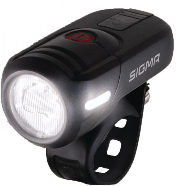 SIGMA LED Akkufrontleuchte Aura 45 USB Befestigung: Lenker | schwarz | An-/Ausschalter: Ja