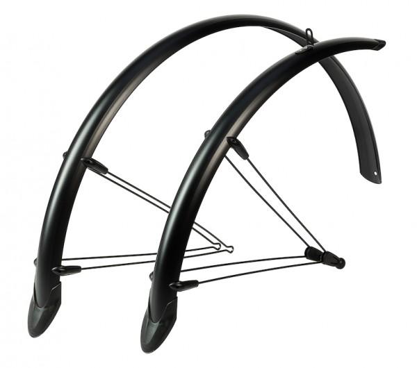 HEBIE Steckschutzblech Set Rainline Premium schwarz matt   Laufradgröße: 28 Zoll   Schutzblechbreite