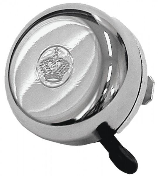 REICH Sicherheitsglocke verchromt | Motiv: Kronen-Prägung | Durchmesser: 55 mm