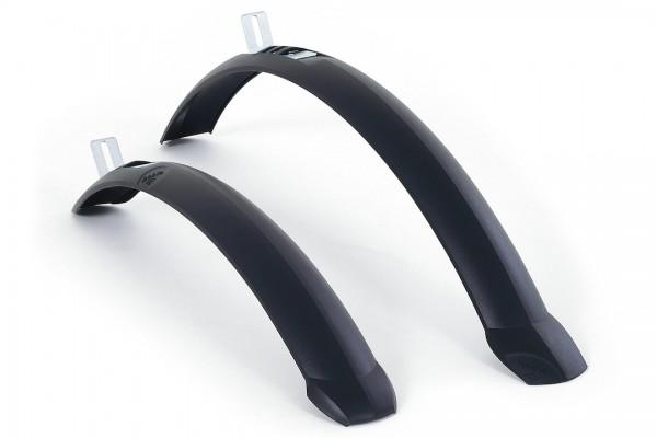 HEBIE Steckschutzblech Set TAIPAN 26 schwarz   Laufradgröße: 24 - 26 Zoll   Schutzblechbreite: 55 mm