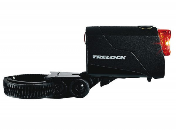 TRELOCK LED Akkurücklicht REEGO inkl. Halter ZL 320 (15 - 45 mm) und USB-Kabel | Befestigung: Sattel