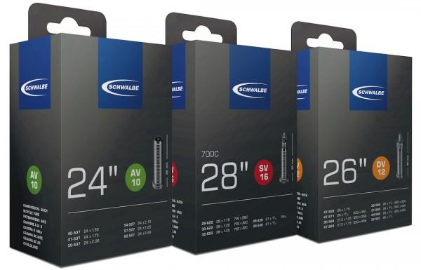 SCHWALBE Fahrradschlauch Extra Light/XX Light 26 Zoll | ETRTO: 40/60-559 | AV | Schwalbe Nr.: 14 | V