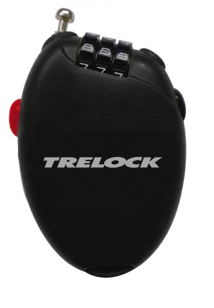 TRELOCK Spiralkabelschloss RK 75 Pocket schwarz   Länge: 750 mm   Durchmesser: 1,6 mm