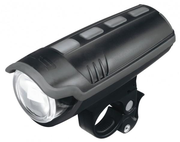 B&M LED-Frontlampe 30 LUX IXON Pure inkl. Halter und Akkus 3 x AA   Befestigung: Lenker   schwarz