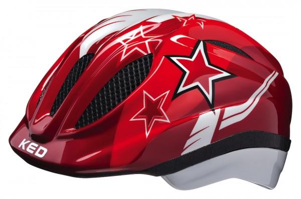KED Kinderhelm Meggy Red Stars Größe: S | Kopfumfang: 46 - 51 cm | rot
